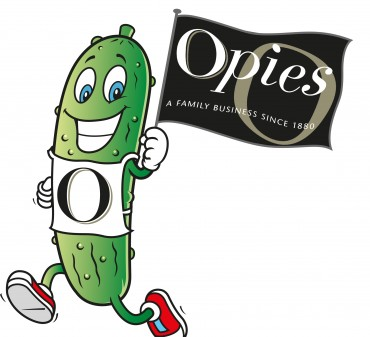 Gherkin Man with Opies Logo